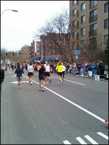 Boston Marathon - View from Coolidge Corner