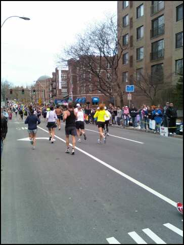 Boston Marathon - View from Coolidge Corner