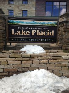 Snow in Lake Placid... always...